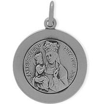 Sterling Silver St. Anne De Beaupre Religious Medal Medallion