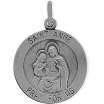 Sterling Silver St. Anne Religious Medal Medallion