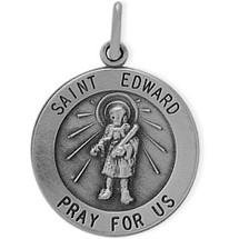 Sterling Silver St. Edward Religious Medal Medallion
