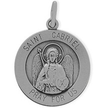 Sterling Silver St. Gabriel Religious Medal Medallion