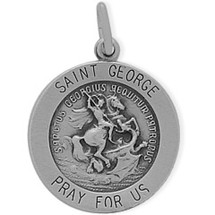 Sterling Silver St. George Religious Medal Medallion