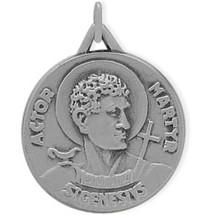 Sterling Silver St. Genesivs Religious Medal Medallion