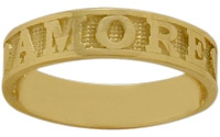 Yellow Gold AMORE Expression Ring
