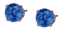 6mm SWAROVSKI Elements Dark Blue Crystal Stud Earrings