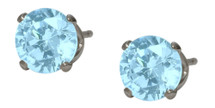 6mm SWAROVSKI Elements Light Blue Crystal Stud Earrings