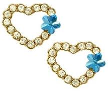 SWAROVSKI® Elements Heart Stud Earrings