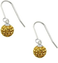 SWAROVSKI® Elements Yellow Stone Circle Ball Earrings