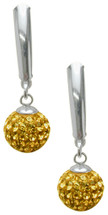 SWAROVSKI® Elements Sterling Silver Drop Style Ball Earrings