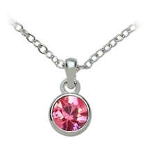 SWAROVSKI® Elements Pink Solitaire Pendant