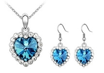 SWAROVSKI® Elements Heart Pendant & Earrings Set
