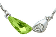 SWAROVSKI® Elements Green 8 Stone Pendant