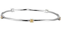 Genuine Sterling Silver Citrine Stackable Bracelet