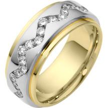 Designer Unique 37 SPINNING Diamond Eternity Wedding Ring
