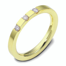 14 Karat Yellow Gold Stackable Diamond Band Ring