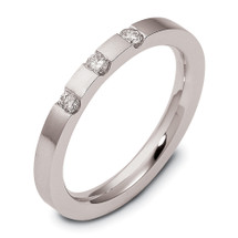 14 Karat White Gold Stackable Diamond Band Ring