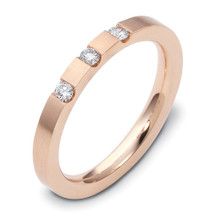14 Karat Rose Gold Stackable Diamond Band Ring