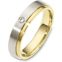Designer 5mm 14 Karat White Gold Diamond Wedding Band Ring