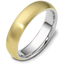 Traditional 6mm Comfort Fit 14 Karat Gold Designer Wedding Band Ring