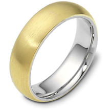 Traditional 6.5mm Comfort Fit 14 Karat Gold Designer Wedding Band Ring