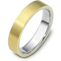 Traditional 5mm Flat Comfort Fit 14 Karat Gold Designer Wedding Band Ring