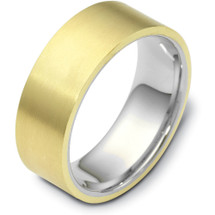 Traditional 8mm Flat Comfort Fit 14 Karat Gold Designer Wedding Band Ring