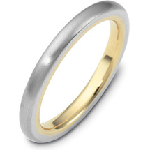 Traditional 3mm Comfort Fit 14 Karat Gold Designer Wedding Band Ring