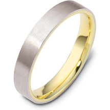 Traditional 4mm Flat Comfort Fit 14 Karat Gold Designer Wedding Band Ring