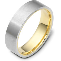 Traditional 6mm Flat Comfort Fit 14 Karat Gold Designer Wedding Band Ring