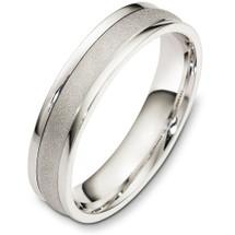 5mm 14 Karat White Gold Plain Wedding Band Ring