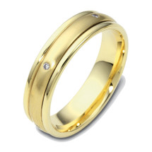 Unique Yellow 14 Karat Gold SPINNING Diamond Wedding Band Ring