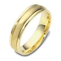 14 Karat 4mm Yellow Gold Designer SPINNING Wedding Band Ring