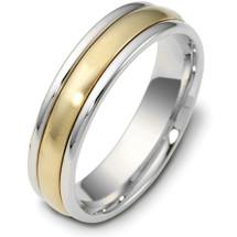 5mm 14 Karat Two-Tone Gold Designer SPINNING Wedding Band Ring