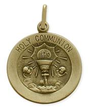 14 Karat Yellow Gold Large Holy Communion Medallion
