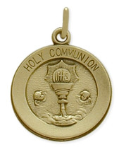 14 Karat Yellow Gold Holy Communion Medallion