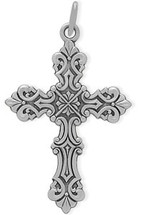 Genuine Sterling Silver Baby Detailed Cross
