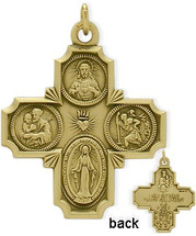 14 Karat Yellow Gold Baby Saint Cross