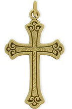 14 Karat Yellow Gold Baby Detailed Cross