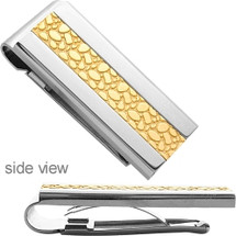 Men's Designer Two-Tone Steel Money Clip
