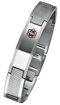 Stainless Steel 13.5mm Self Adjustable Medical ID Bracelet