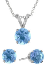 Sterling Silver CHOOSE YOUR GEMSTONE Earrings and Pendant Set