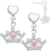 Disney® Cinderella Tiara Enamel Earrings