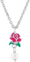 Disney® Belle Rose Enamel & Pearl Pendant