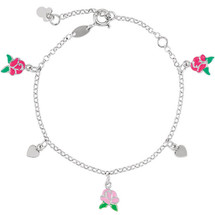 Disney® Belle Rose Enamel & Heart Bracelet