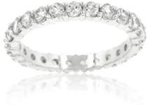 Ladies Rhodium Plated 3mm Eternity Ring