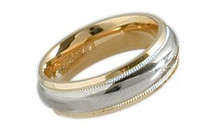 7mm Two-Tone Standard Wedding Band