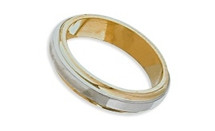 4mm Two-Toned Flat Style Wedding Band