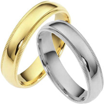 Traditional 5mm Comfort Fit Milgrain Wedding Band