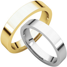 Traditional 4mm Comfort Fit Flat Wedding Band