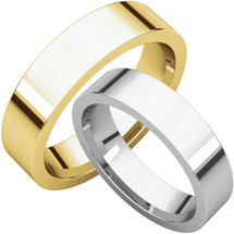 Traditional 5mm Comfort Fit Flat Wedding Band