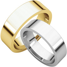 Traditional 6mm Comfort Fit Flat Wedding Band